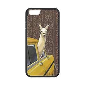 iPhone 6 Protective Case - Funny Llama Hardshell Cell Phone Cover Case for New iPhone 6