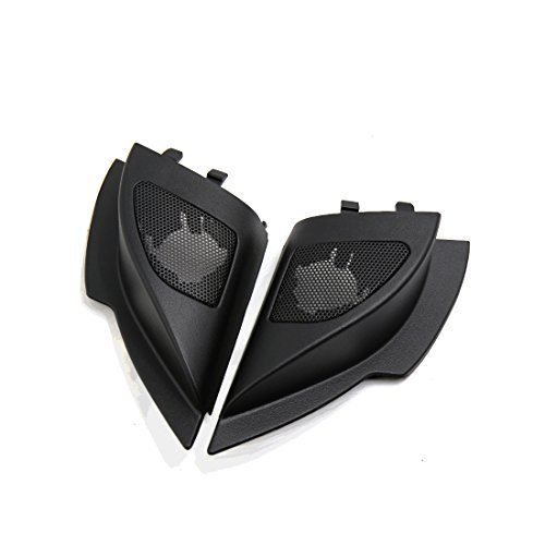 eDealMax 2 Pcs Mesh Black Car Tweeter Trumpet Dustproof Cover for 2011 Mitsubishi Lancer