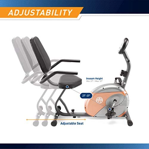 Marcy Recumbent Exercise Bike with Resistance ME-709 4