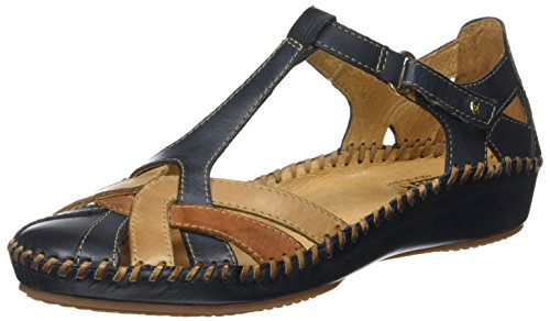Vallarta 655 Sandals Womens Leather Pikolinos Navy 0732C5 blue Puerto aqtH4WxwE