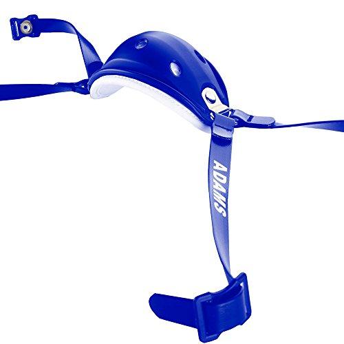 (Adams USA High Hook Up Nylon Matte 4 Point Football Varsity Chinstrap, Royal Blue)