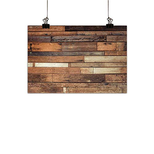 Anzhutwelve Wood Print Simulation Oil Painting Rustic Floor Planks Digital Printed Grungy Look Farm House Country Style Walnut Oak Grain Image Decorative Painted Sofa Background Wall Brown 35