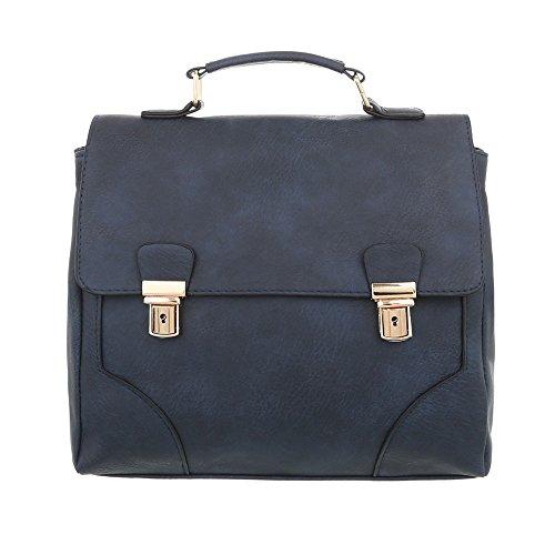 Damen Tasche Handtasche Used Schultertasche Schultertaschen Umhängetasche Shopper Tasche Henkeltasche Beuteltasche Dunkelblau