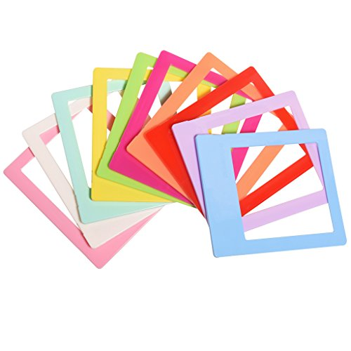 Polaroid 10 Colorful 3x4 Mini Photo Picture Frames For 3x4 Polaroid I-Type, 600 Film (OneStep 2), Pink, blue, orange, green, red, Stands