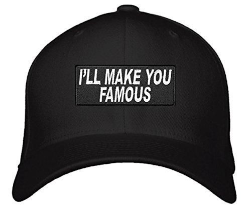 I'll Make You Famous Hat - Adjustable Cap (Black) - Singer Cap
