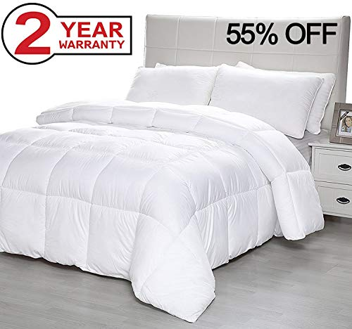 Duck and Goose CO Down Alternative Comforter with Corner Tabs, Plush Microfiber Quilted Duvet Insert Lightweight for All Season, Premium Hotel Quality - Machine Washable - Queen