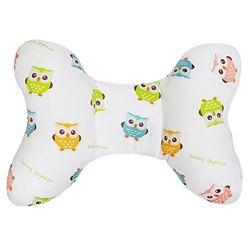 Sweet Layette Baby Head and Neck Support Pillow White