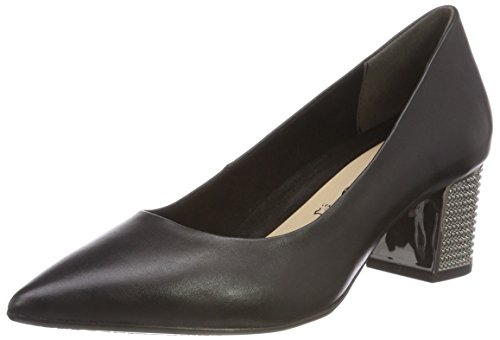 Tamaris Black Leather Nero Ballerine 3 Donna 22411 C0Cq4vw7