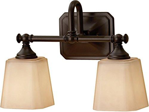 Feiss VS19702-ORB Concord Glass Wall Vanity Bath Lighting, 2-Light, 200watts, Bronze (14