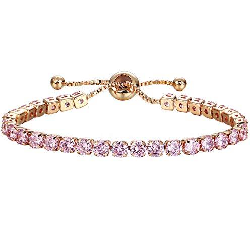 Bracelet Pattern Monet (Henraly Fashion Cubic Zirconia Adjustable Bracelet and Bangle for Women Wedding Jewelry Bracelets for Men Women Best Friend Hot,D,United States)