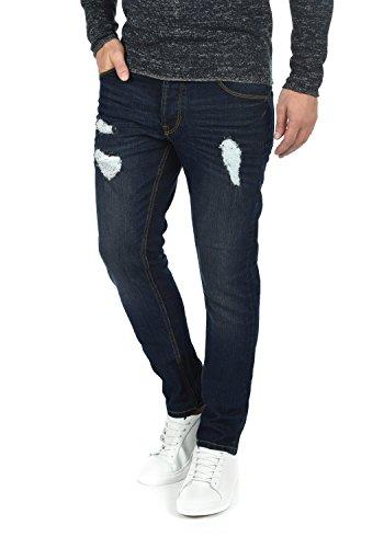 !solid Moy Jeans Denim Pantaloni Da Uomo Elasticizzato Slim- Fit Dark Blue (9620)