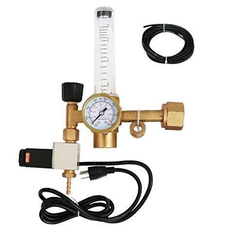 VIVOSUN Hydroponics CO2 Regulator Emitter System with Solenoid Valve Flowmeter for Grow Room Grow Tent Green House Aquarium