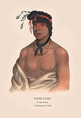 "Wesh Cut; A Chippewah Chief)Fine art canvas print (20"""" x 30"""")"