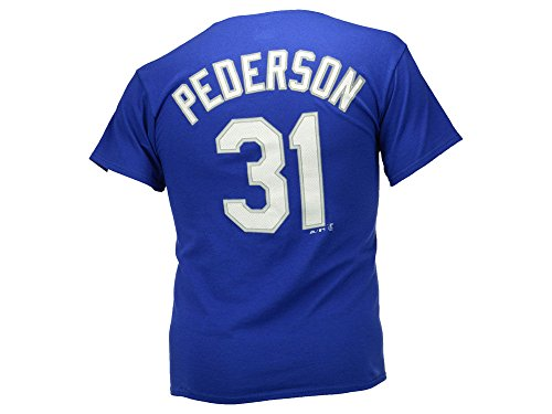 Joc Pederson Los Angeles Dodgers Deep Royal Jersey Name and Number T-shirt XX-Large