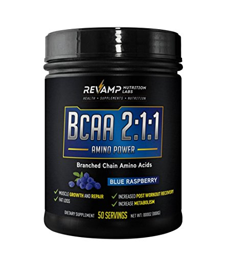 BCAA 2:1:1 Amino Power (Branched Chain Amino Acid) by REVAMP NUTRITION LABS