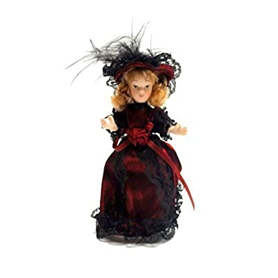 Melody Jane Dolls Houses Victorian Young Lady Girl Miniature People Porcelain RD: Toys & Games