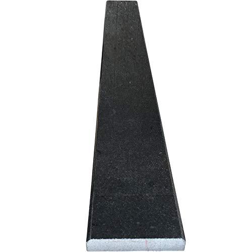 Vogue Tile Absolute Black Granite Threshold (Marble Saddle) - Polished - (6