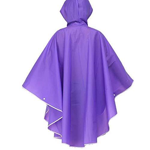 Rain Moto Parka De Transparent Poncho Pluie Mode Pour Veste Chic Lilas Hooded Femmes Raincoat Imperméable xFwSpqtP