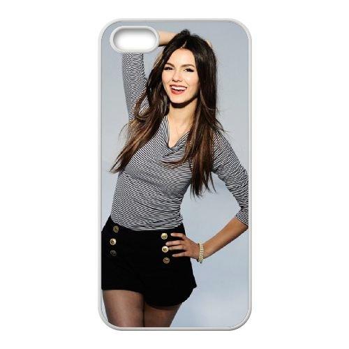 Victoria Justice Style coque iPhone 4 4S cellulaire cas coque de téléphone cas blanche couverture de téléphone portable EOKXLLNCD20632