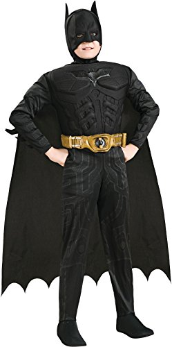Batman Dark Knight Rises Child's Deluxe Muscle Chest Batman Costume with Mask/Headpiece and Cape - Toddler - Toddler Muscle Batman Costumes