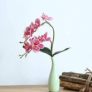 Vovomay_Artificial Flowers-Beautiful Butterfly Orchid Silk Flower Home Wedding Party Phalaenopsis Bouquet 25