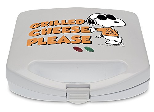 Smart Planet SGCM‐2 Peanuts Snoopy and Woodstock Grilled Cheese Sandwich Maker, White