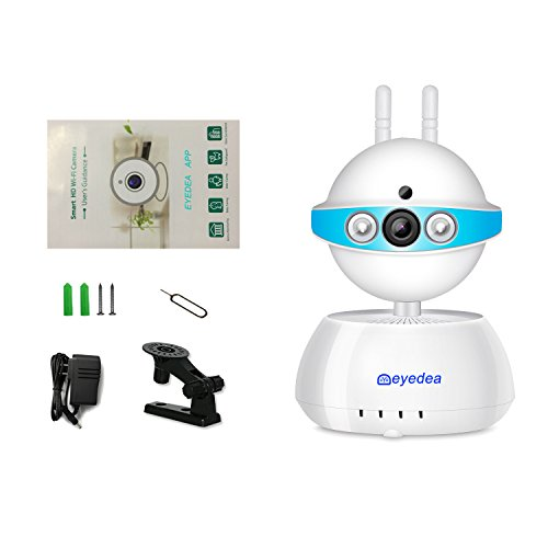 eyedea Dual Band 720P 1.0MP WiFi Wireless Two way audio Motion Detection APP Call IP Network Webcam Baby Monitor Burglaralarm CCTV Security Camera Review