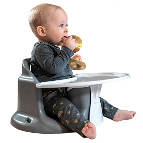 Upseat Baby Chair Booster Seat with Tray for Upright Posture and Healthy Hips (Upright Chair)