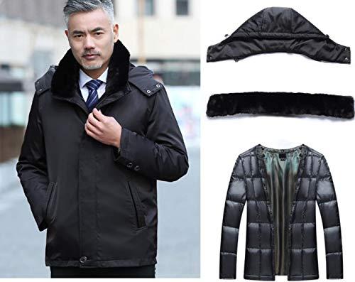 couleur Aged Noir Zjexjj Metro Men Middle Jacket Winter Taille O1qqZvwg
