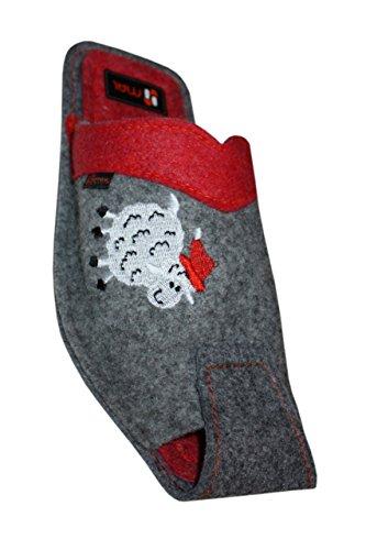 Red Sheep Slippers Wool Grey Grey Weri Red Spezials wnaxvXtH
