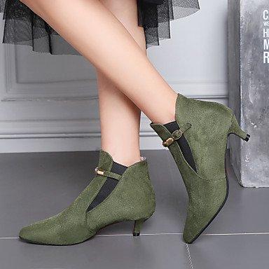 Gray Walking 4in Heel 3 Boots Women's Gll green Green Shoes Winter Kitten Casual amp;xuezi Leatherette 1 Fall Dress Black Ruby Comfort 1in Buckle wp0CZn0q
