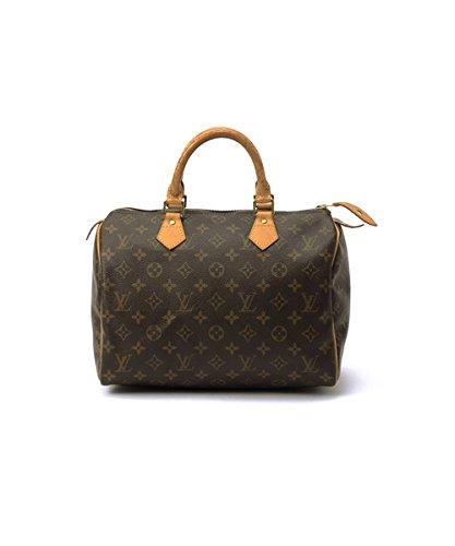 Authentic Women's Vintage Louis Vuitton Speedy 30 Brown Monogram Travel Bag by Louis Vuitton