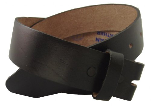 Belt for Buckles 100% Top Grain One Piece Leather, up to Size (Leather Belt Strap)