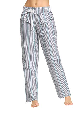 CYZ Women's 100% Cotton Woven Sleep Pajama Pants-SeamistStripe-L