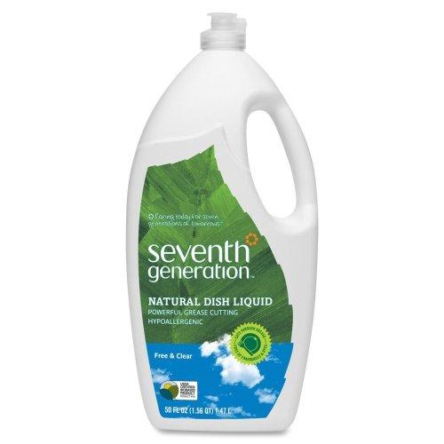 - Seventh Generation Natural Dish Liquid - Liquid Solution - 50 oz (3.12 lb)