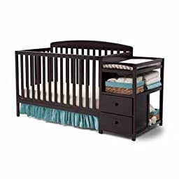 Delta Children\'s Royal Fixed-Side Crib \'n Changer, Choose Your Finish