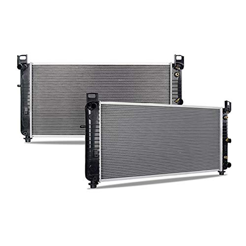 - Mishimoto R2423-AT Cadillac Escalade Replacement Radiator, 2002-2013, Silver
