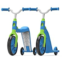 Swagtron K6 Toddler Scooter, Convertible 4-in-1 Ride-On Balance Trike & Training Bike for 2-5 Year Olds - ASTM F963 Certified