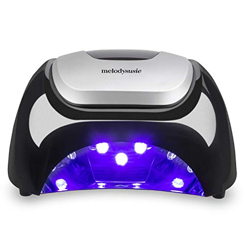MelodySusie LED Nail Lamp, Professional LED Gel Nail Dryer Nail Light with 3 Timer Controls Super Chip Fast Curing LED Gel Nail Polish (Classic Black) (Best High End Nail Polish)