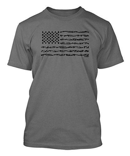 Black American Flag Made T shirt product image