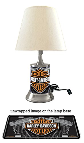 Harley-Davidson Lamp with shade, Vtwin Harley Davidson Desk Lamp
