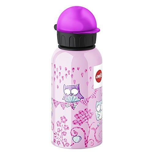 Emsa 514399 Kinder-Trinkflasche, 400 ml, Sicherheits-Verschluss, 100% dicht, Kids Owl