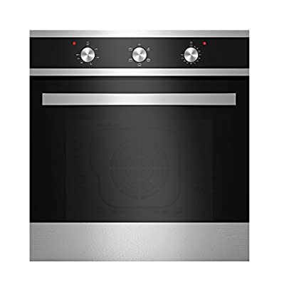 Empava KQP65A-16 Tempered Glass Electric Built-in Single Wall Oven 2000W 110V, Black and Silver
