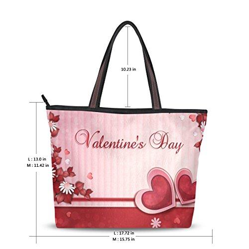 Coeur Fourre tout Alaza Valentine Épaule Sac De Grand Main Fleur À 1TulFK53Jc