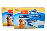 Hartz Home Protection Unscented Odor Eliminating Gel Dog Pads - 140 Count