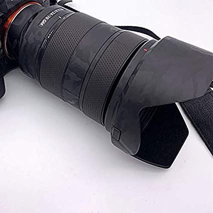Lens Skin Decal Sticker Wrap Film Protector Wear Case Shadow Black for Sony Zoom Lens FE 24-70mm F2.8 GM