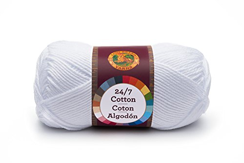 Lion Brand Yarn 761100 247 Cotton Yarn White