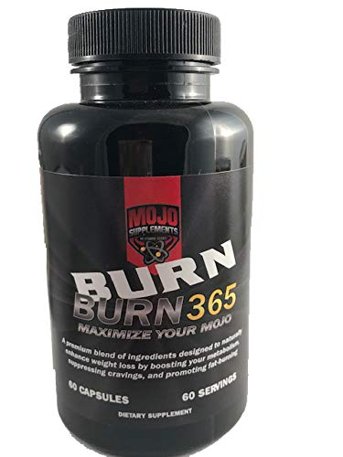 Burn 365 (60 Capsules) - Weight Loss Supplement -Natural Fat Burner - Energy Boosting - Thermogenic - Keto Friendly - Men and Women Lean Supplements - (Burn Dietary Supplement)