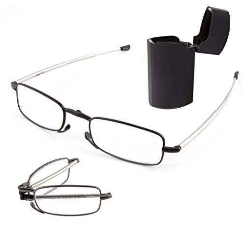 doubletake-2-pairs-of-metal-compact-folding-reading-glasses-with-mini-flip-top-carrying-case-for-men