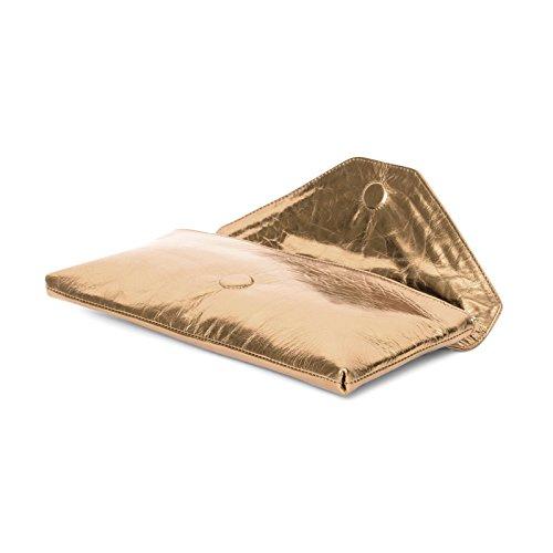 Gretchen - Borsa Da Sera In Corallo - Bronzo Metallizzato